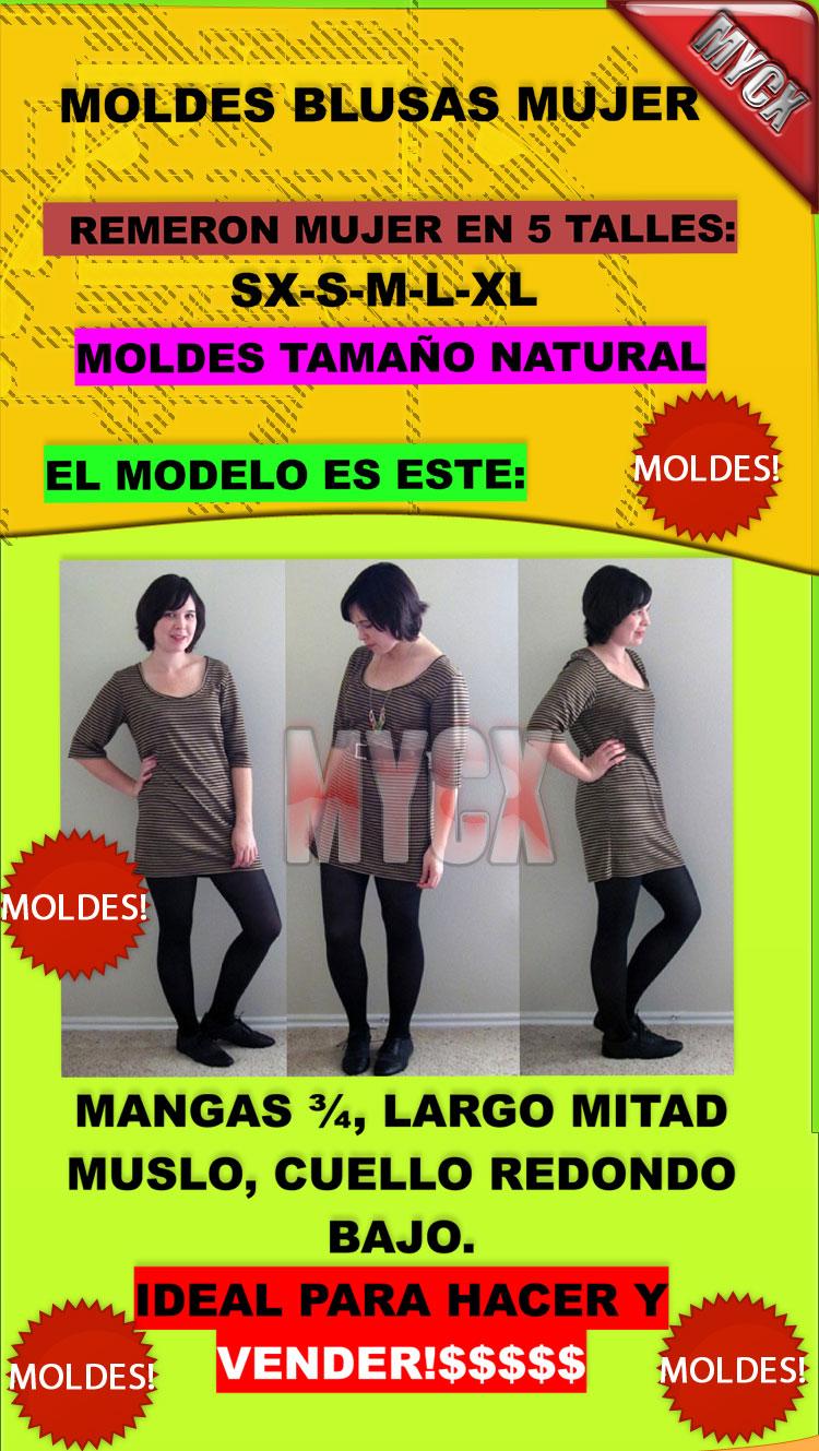 100 Moldes Blusas Mujer Talles 40 Al 50-envio Gratis!!
